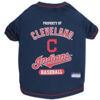 MLB Medium Cleveland Indians Dog T-Shirt