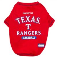 MLB X-Small Texas Rangers Dog T-Shirt