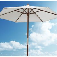 7.5-Foot Round Steel Umbrella Frame with Fabric Bag in Natural
