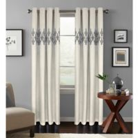 Colordrift Jade 108-Inch Room Darkening Grommet Top Window Curtain Panel in Platinum