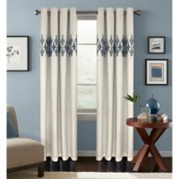 Colordrift Jade 84-Inch Room Darkening Grommet Top Window Curtain Panel in Denim