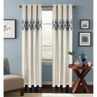 Colordrift Jade 84-Inch Room Darkening Grommet Top Window Curtain Panel in Denim
