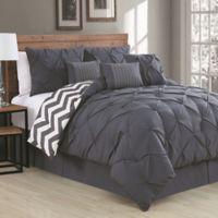 Avondale Manor Ella 7-Piece Queen Comforter Set in Charcoal