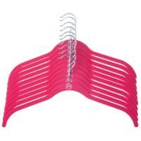 Joy Mangano Huggable Hangers® 10-Piece Shirt Hangers in Fuchsia