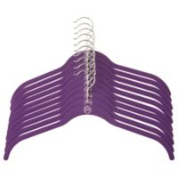 Joy Mangano Huggable Hangers® 10-Piece Shirt Hangers in Purple