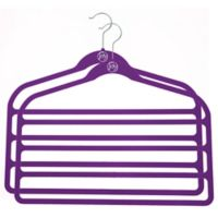 Joy Mangano Huggable Hangers® 2-Pack 4-Bar Pant Hangers in Purple