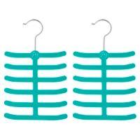 Joy Mangano Huggable Hangers® 2-Pack Tie and Belt Hangers in Teal
