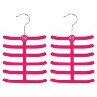 Joy Mangano Huggable Hangers® 2-Pack Tie and Belt Hangers in Fuchsia