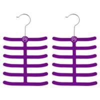 Joy Mangano Huggable Hangers® 2-Pack Tie and Belt Hangers in Purple