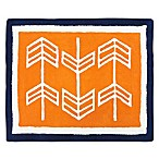 Sweet Jojo Designs Arrow Accent Rug in Orange/Navy