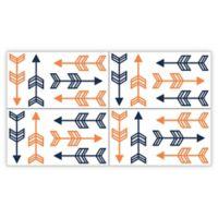Sweet Jojo Designs Arrow Wall Decals in Orange/Navy