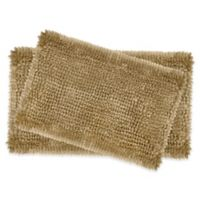Laura Ashley Butter Chenille Bath Rugs in Linen (Set of 2)