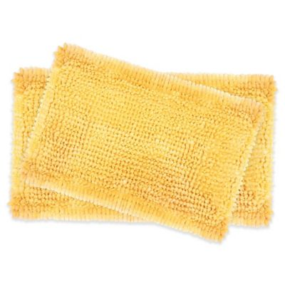 Laura Ashley Butter Chenille Bath Rugs In Yellow (Set Of 2)