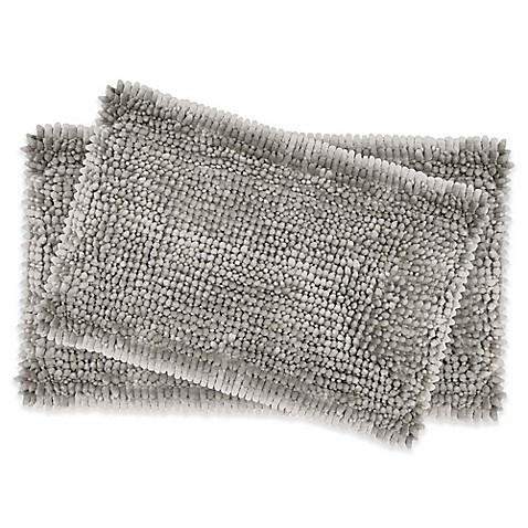 image of Laura Ashley® Butter Chenille Bath Rugs (Set of 2)