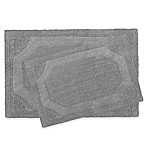 Laura Ashley Reversible Bath Rugs in Charcoal (Set of 2)