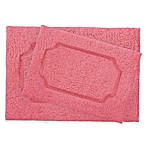 Blossom Race Track Bath Rugs in Coral (Set of 2)