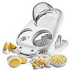 3-in1 Egg Slicer with Container in White