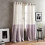 DKNY Color Band 95-Inch Grommet Top Window Curtain Panel in Lilac