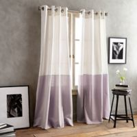 DKNY Color Band 84-Inch Grommet Top Window Curtain Panel in Lilac
