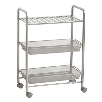Captivating SALT™ 3 Tiered Bathroom Cart In Silver