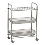 SALT™ 3-Tiered Bathroom Cart in Silver