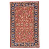Feizy Abbey Alexandra 3-Foot 6-Inch x 5-Foot 6-Inch Area Rug in Red/Navy