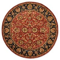 Feizy Abbey Alexandra 8-Foot Round Area Rug in Red/Navy