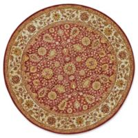 Feizy Abbey 8-Foot Round Area Rug in Cranberry/Ivory