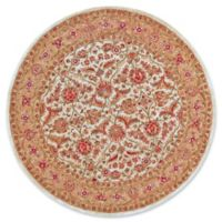 Feizy Abby 8-Foot Round Area Rug in Ivory/Light Gold