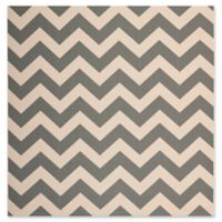 Safavieh Courtyard Chevron 4-Foot Square Indoor/Outdoor Accent Rug in Grey
