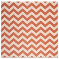 Safavieh Courtyard Chevron 5-Foot 3-Inch Square Indoor/Outdoor Area Rug in Terracotta