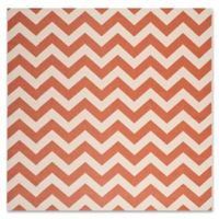 Safavieh Courtyard Chevron 7-Foot 10-Inch Square Indoor/Outdoor Rug in Terracotta