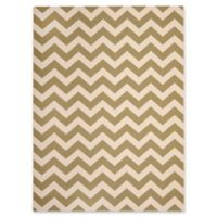 Safavieh Courtyard Chevron 8-Foot x 11-Foot Indoor/Outdoor Area Rug in Green