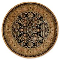 Feizy Alegra 8-Foot Round Area Rug in Black