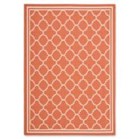 Safavieh Courtyard Mini Quatrefoil 5-Foot 3-Inch x 7-Foot 6-Inch Indoor/Outdoor Rug in Terracotta