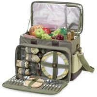 Picnic At Ascot Ultimate Picnic Cooler for 4 in Olive