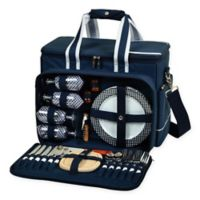 Picnic At Ascot Ultimate Picnic Cooler for 4 in Navy
