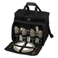 Picnic at Ascot Deluxe Picnic Cooler for 4 in Black