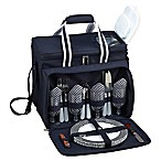 Picnic at Ascot Deluxe Picnic Cooler for 4 in Navy