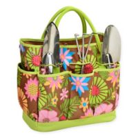 Picnic at Ascot Gardening Tote in Floral with Tools