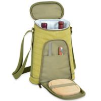 Picnic at Ascot Hamptons Insulated Wine Tote with Cheese Set in Olive