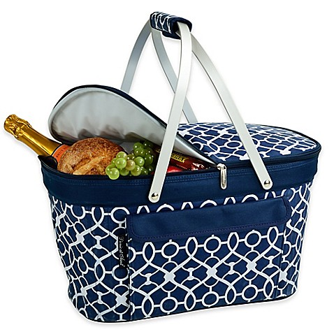insulated picnic basket picnic at ascot insulated market basket bed bath amp beyond 12080