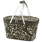 Picnic at Ascot Floral Insulated Market Basket in Olive