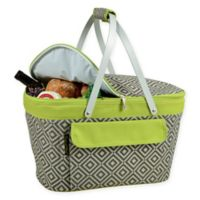 Picnic at Ascot Diamond Insulated Market Basket in Green