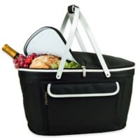 Picnic at Ascot Insulated Market Basket in Black