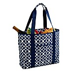 Picnic At Ascot™ X-Large Insulated Cooler Tote in Blue Trellis