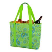 Picnic at Ascot Paisley X-Large Insulated Cooler Tote in Green