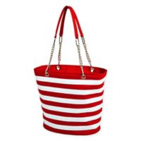 Picnic at Ascot Insulated Fashion Cooler Bag in Red/White