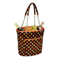 Picnic at Ascot Insulated Fashion Cooler Bag in Brown/Orange