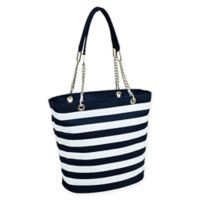 Picnic at Ascot Insulated Fashion Cooler Bag in Blue/White